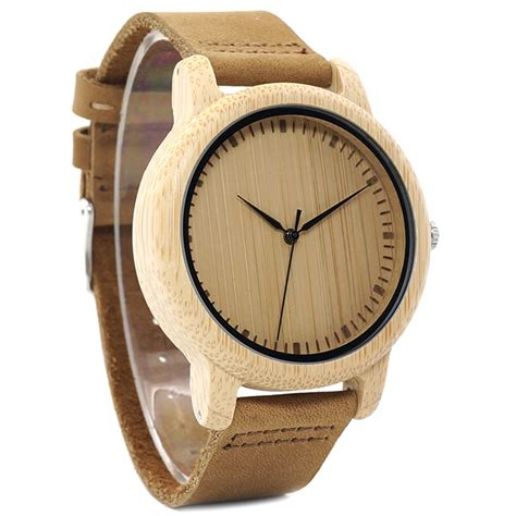 bobo bird jam tangan kayu analog wanita wa19 brown