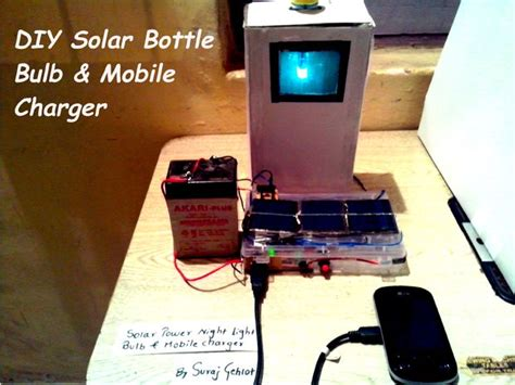 diy solar phone charger diy solar bottle bulb and mobile charger