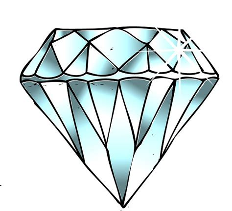 diamond tattoo sketch