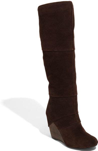 fergie fallen boot in brown lyst