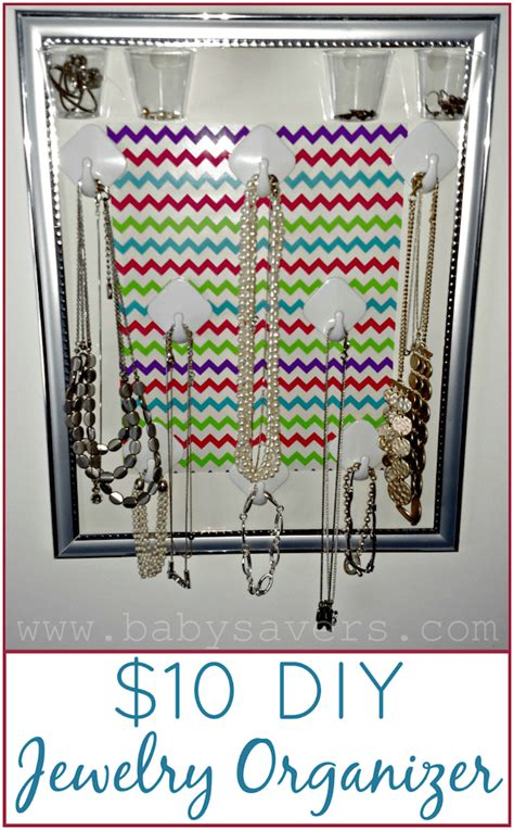 how to make a hanging jewelry organizer how to make a diy hanging jewelry organizer for 10