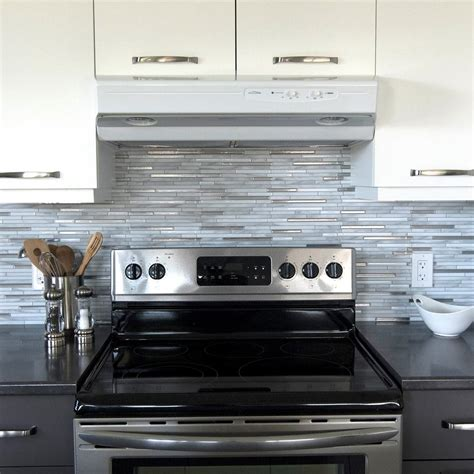 peel and stick kitchen backsplash design peel and stick smart tiles capri carrera 9 88 in w x 9 70 in h peel and