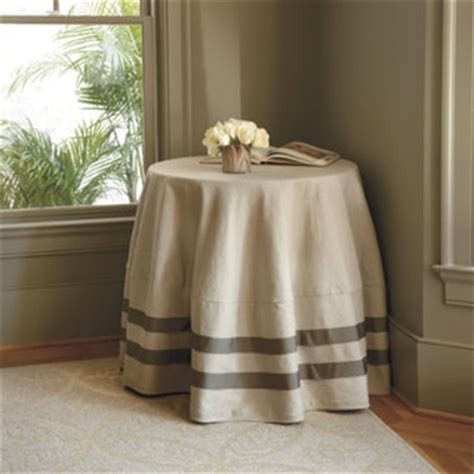 Ballard Design Coffee Table deux ribbon round tablecloth farmhouse tablecloths