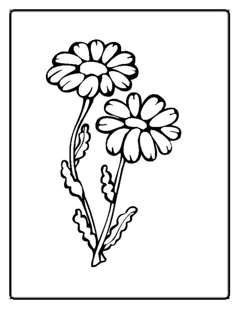 Flower Coloring Pages 2 Coloring Pages To Print Flower Coloring Pages Free