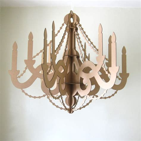 Chandelier Decoration Fancy Large Cardboard Paper Chandelier Laser Cut Decor By Seequin