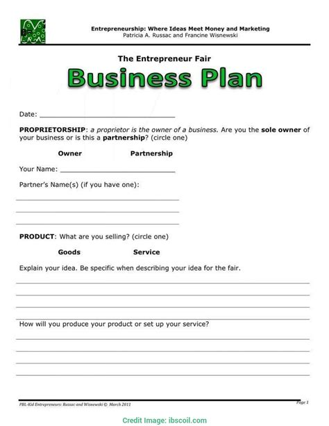 interesting business plan outline template free sample nonprofit
