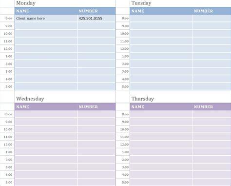 weekly work schedule template work schedule template 14 17