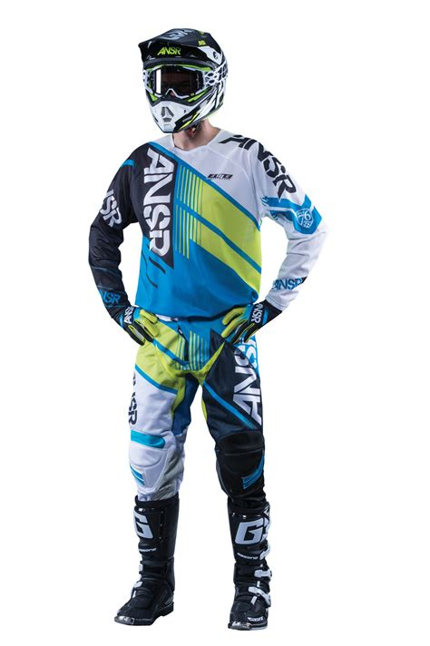 white motocross gear answer new 2016 mx gear elite air dirt bike cyan blue acid