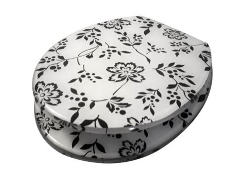 black and white printed pattern toilet seats printed pattern toilet seat