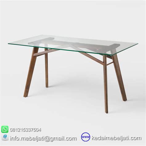 Meja Makan Kaca Import beli meja makan kaca model minimalis kayu jati jepara