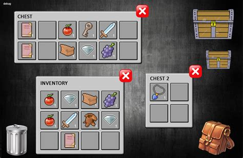 rpg inventory system for games capx included by