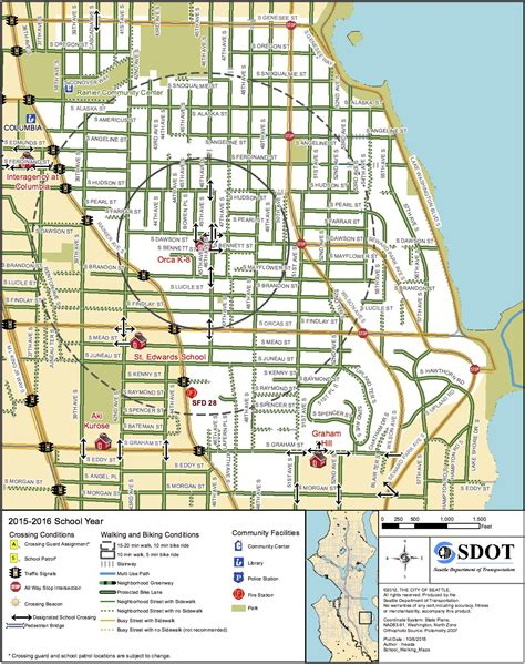 seattle map hill seattle releases unique walking and biking maps for each