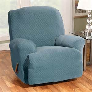sure fit stretch stone t cushion recliner slipcover at