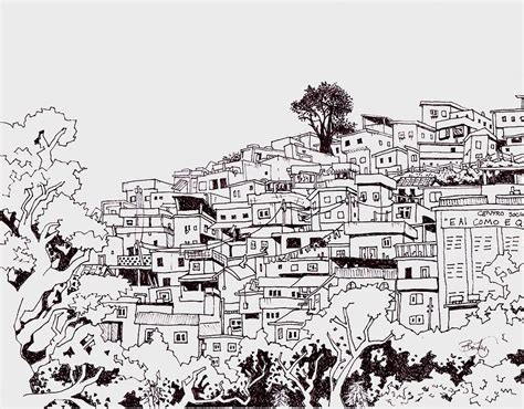 Our Town House Plans by Favelas Drawing By Ben Leary