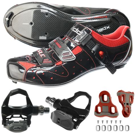 bike pedals and shoes xpedo carbon road bike bicycle shimano spd sl cycling