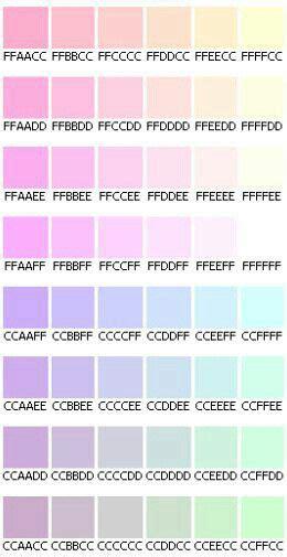 pastel color codes pastel hex codes colors pastels vaporwave