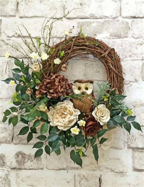 Grapevine Floral Design Home Decor The by Owl Wreath Fall Pinterest Owl Wreaths Owl And Wreaths