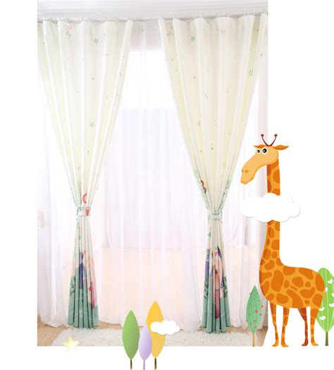 custom kids curtains white patterned print poly cotton blend custom kids curtains