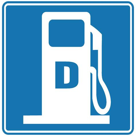 the color of a motorist service sign is gas station color vector sign at vectorportal