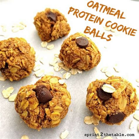 protein oatmeal balls oatmeal protein cookie balls sprint 2 the table