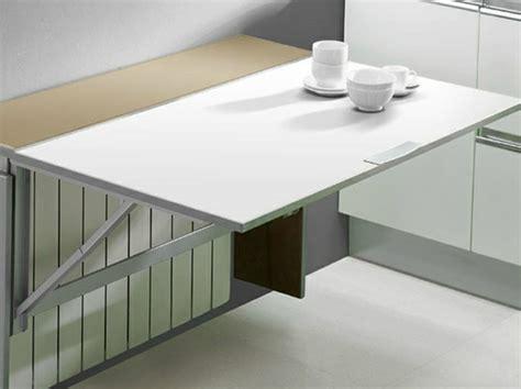table rabattable cuisine table murale pour une cuisine plus sympa