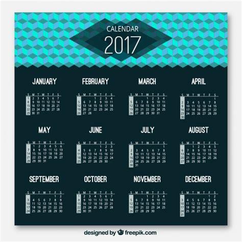 Calendario Moderno Modern Geometric 2017 Calendar Vector Free