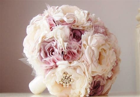 ready made bridal bouquets sale ready to ship fabric brooch bouquet vintage