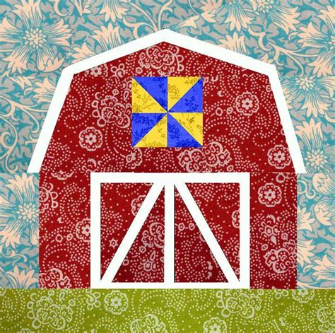 quilt pattern on barns red barn paper by cyrille quilting pattern