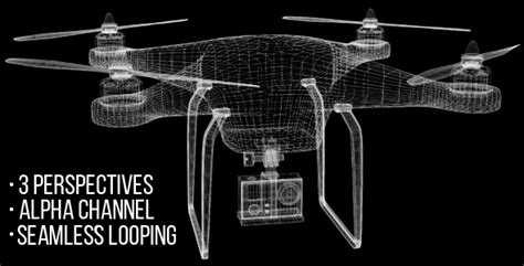 Drone Model 3d Wireframe 3 Views By Mbreffects Videohive Drone Intro Template