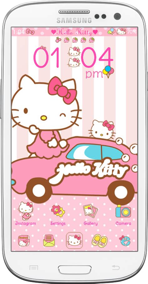 theme line android hello kitty hello kitty car ride go launcher theme android themes