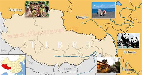 map of and surrounding areas where is tibet located on map of china asia and world