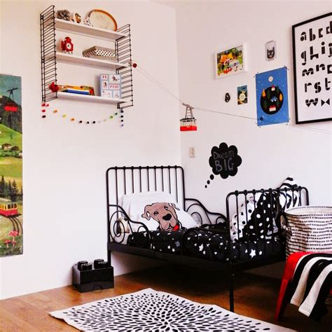 eclectic boys bedroom seems drenched in red and black eclectic black white and red boys room project nursery