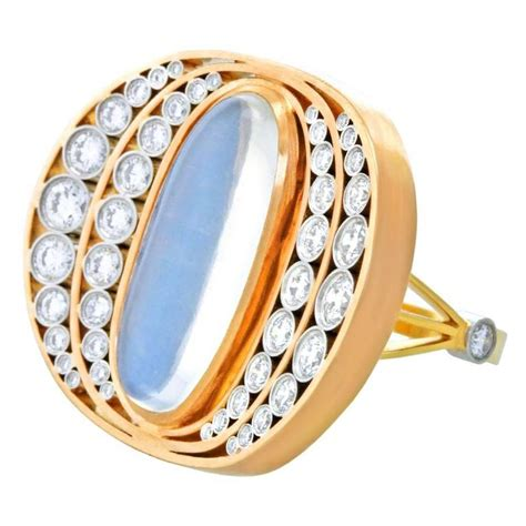 alchemy collection moon and gold platinum ring at