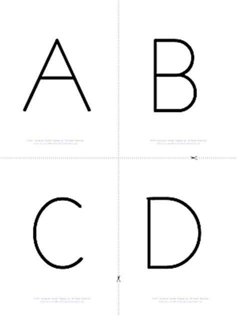 alphabet letters flash cards templates alphabet b w free esl flashcards