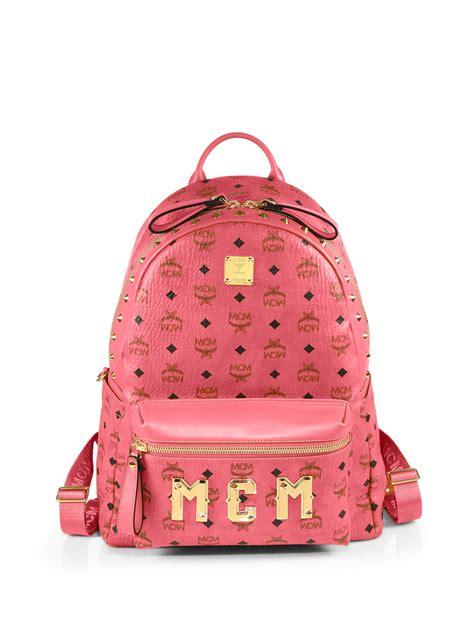 mcm visetos stark monogram backpack in lyst