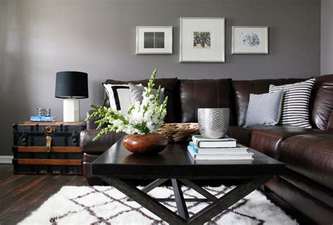 brown sofas in living rooms grey and brown living room modern house
