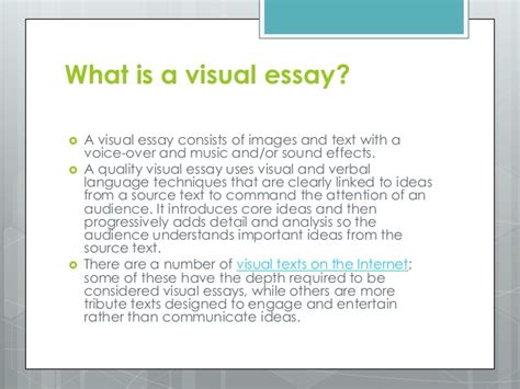 What Is A Essay by 3 6 Create A Visual Presentation