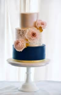 modern blue and gold lace wedding cake