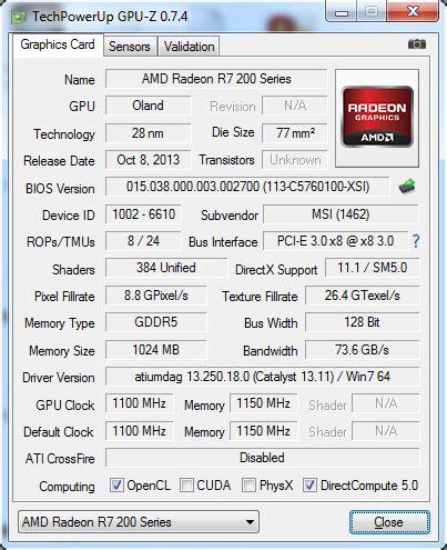 R7 250 Oc 1gb 128 Bit Ddr5 msi r7 250 1gb ddr5 128bit oc bios techpowerup forums