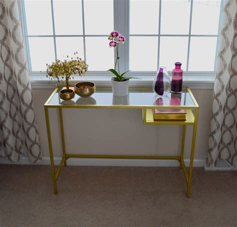 ikea hack console table gold console table