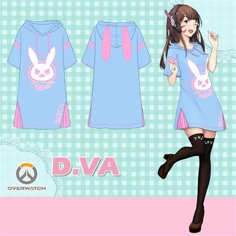 Sweater Dva Bunny Redmerch Overwatch D Va Dva Bunny Meka Bunny Ears Hoodie Dress Sd02089