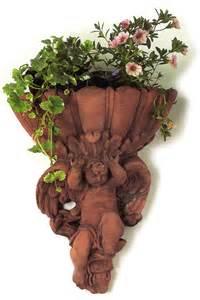 cherub terracotta wall planter