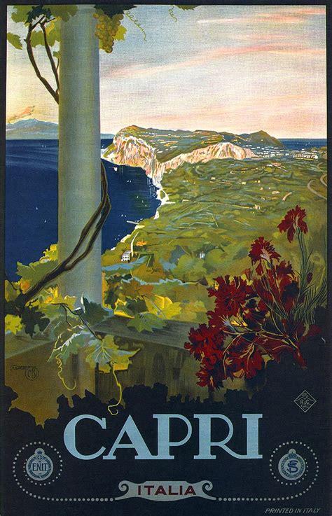 Italy Dll Poster Vintage 4 Frame 1927 italy italian vintage repro travel poster ebay