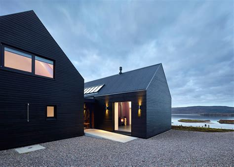 house architects colbost house is a sleek black residence on the isle of