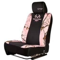 Pink Fuzzy Seat Covers Walmart Realtree Pink Camouflage Low Back Seat Cover