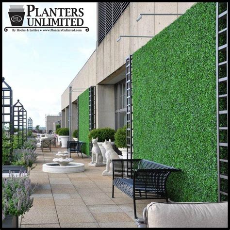 Artificial Green Wall Outdoor - outdoor living wall with faux boxwood artificial plants