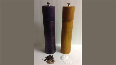 Handmade Wooden Pepper Mills - handmade wood pepper and salt mills by jeffrey dedeaux