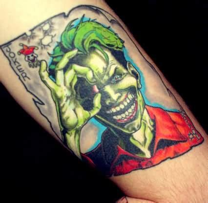 joker tattoo right bicep 34 joker card tattoos