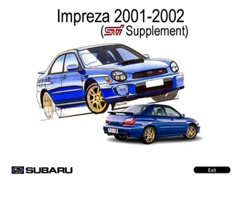small engine repair manuals free download 2002 subaru legacy head up display subaru impreza sti 2002 service manual