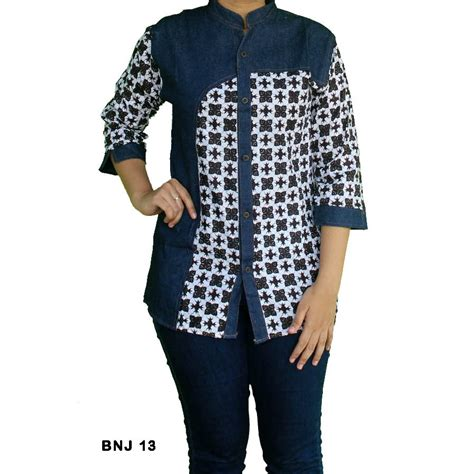 Gamis Embos 13 100 gambar baju batik kombinasi dengan kode bp093 batik cap kombinasi katun combed